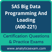 SAS Big Data Programming and Loading (A00-221)
