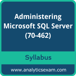 70-462 Syllabus, 70-462 PDF Download, Microsoft 70-462 Dumps, Administering Microsoft SQL Server PDF Download, Administering Microsoft SQL Server 2012/2014 Databases Certification
