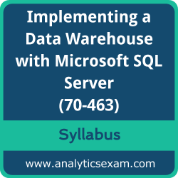 70-463 Syllabus, 70-463 PDF Download, Microsoft 70-463 Dumps, Implementing a Data Warehouse with Microsoft SQL Server PDF Download, Implementing a Data Warehouse with Microsoft SQL Server 2012/2014 Certification
