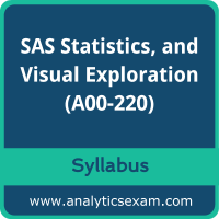 A00-220 Syllabus, A00-220 PDF Download, SAS A00-220 Dumps, SAS Big Data Professional Dumps PDF Download, SAS Big Data Preparation, Statistics, and Visual Exploration PDF Download
