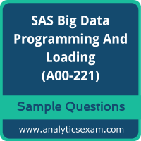 A00-221 Dumps Free, A00-221 PDF Download, SAS Big Data Professional Dumps Free, SAS Big Data Professional PDF Download, A00-221 Free Download
