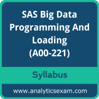 A00-221 Syllabus, A00-221 PDF Download, SAS A00-221 Dumps, SAS Big Data Professional Dumps PDF Download, SAS Big Data Programming and Loading PDF Download