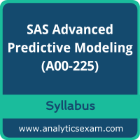 A00-225 Syllabus, A00-225 PDF Download, SAS A00-225 Dumps, SAS Advanced Analytics Professional Dumps PDF Download, SAS Advanced Predictive Modeling PDF Download