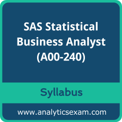 A00-240 Syllabus, A00-240 PDF Download, SAS A00-240 Dumps, SAS Statistical Business Analyst PDF Download, SAS Certified Statistical Business Analyst Using SAS 9 - Regression and Modeling Certification