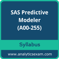A00-255 Syllabus, A00-255 PDF Download, SAS A00-255 Dumps, SAS Predictive Modeler Dumps PDF Download, SAS Predictive Modeling Using SAS Enterprise Miner 14  PDF Download