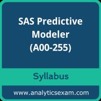 A00-255 Syllabus, A00-255 PDF Download, SAS A00-255 Dumps, SAS Predictive Modeler Dumps PDF Download, SAS Predictive Modeling Using SAS Enterprise Miner 14  PDF Download