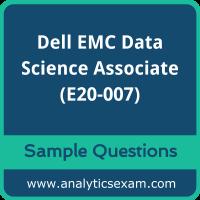 E20-007 Dumps Free, E20-007 PDF Download, Dell EMC Data Science Associate Dumps Free, Dell EMC Data Science Associate PDF Download, E20-007 Free Download