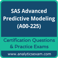 SAS Advanced Predictive Modeling (A00-225) Premium Practice Exam