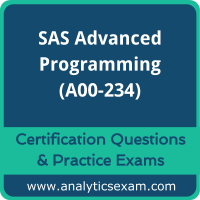 SAS Certified Professional - Advanced Programming Using SAS 9.4 Delta (A00-234)