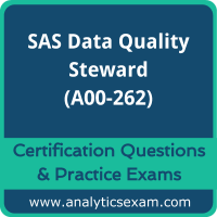 SAS Certified Data Quality Steward for SAS 9 (A00-262) Premium Practice Exam