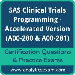 SAS Certified Clinical Trials Programming Using SAS 9