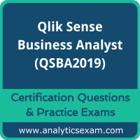 Qlik Sense Business Analyst (QSBA2019) Premium Practice Exam