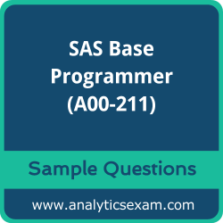 A00-211 Dumps Free, A00-211 PDF Download, SAS Base Programmer Dumps Free, SAS Base Programmer PDF Download, SAS Certified Base Programmer for SAS 9 Certification, A00-211 Free Download, A00-211 VCE, SAS Base Programmer Certification Dumps, A00-211 Exam Questions PDF