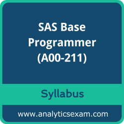A00-211 Syllabus, A00-211 PDF Download, SAS A00-211 Dumps, SAS Base Programmer PDF Download, SAS Certified Base Programmer for SAS 9 Certification