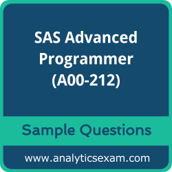 A00-212 Dumps Free, A00-212 PDF Download, SAS Advanced Programmer Dumps Free, SAS Advanced Programmer PDF Download, SAS Certified Advanced Programmer for SAS 9 Certification, A00-212 Free Download, A00-212 VCE, SAS Advanced Programmer Certification Dumps, A00-212 Exam Questions PDF