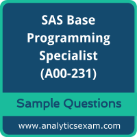 A00-231 Dumps Free, A00-231 PDF Download, SAS Base Programming Dumps Free, SAS Base Programming PDF Download, A00-231 Free Download