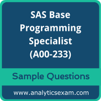 A00-233 Dumps Free, A00-233 PDF Download, SAS Base Programming Dumps Free, SAS Base Programming PDF Download, A00-233 Free Download