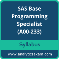 A00-233 Syllabus, A00-233 PDF Download, SAS A00-233 Dumps, SAS Base Programming Dumps PDF Download, SAS Certified Specialist - Base Programming Using SAS 9.4 Delta PDF Download
