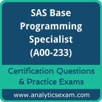 SAS A00-233 Dumps, SAS A00-233 Dumps Free Download, SAS A00-233 PDF, A00-233 Actualtests PDF, A00-233 VCE, A00-233 Braindumps