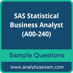 A00-240 Dumps Free, A00-240 PDF Download, SAS Statistical Business Analyst Dumps Free, SAS Statistical Business Analyst PDF Download, SAS Certified Statistical Business Analyst Using SAS 9 - Regression and Modeling Certification, A00-240 Free Download, A00-240 VCE, SAS Statistical Business Analyst Certification Dumps, A00-240 Exam Questions PDF