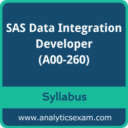 A00-260 Syllabus, A00-260 PDF Download, SAS A00-260 Dumps, SAS Data Integration Developer PDF Download, SAS Certified Data Integration Developer for SAS 9 Certification
