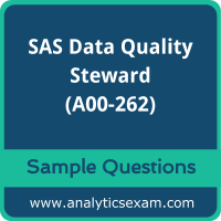 A00-262 Dumps Free, A00-262 PDF Download, SAS Data Quality Steward Dumps Free, SAS Data Quality Steward PDF Download, A00-262 Free Download