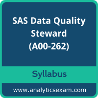 A00-262 Syllabus, A00-262 PDF Download, SAS A00-262 Dumps, SAS Data Quality Steward Dumps PDF Download, SAS Certified Data Quality Steward for SAS 9 PDF Download