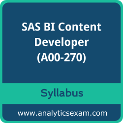 A00-270 Syllabus, A00-270 PDF Download, SAS A00-270 Dumps, SAS BI Content Developer PDF Download, SAS BI Content Developer for SAS 9 Certification