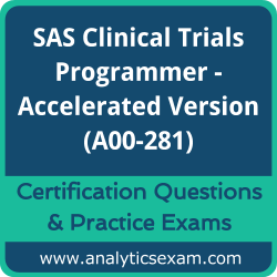 A00-281 Dumps Free, A00-281 PDF Download, SAS Clinical Trials Programmer - Accelerated Version Dumps Free, SAS Clinical Trials Programmer - Accelerated Version PDF Download, A00-281 Certification Dumps, A00-281 VCE, SAS Clinical Trials Programmer - Accelerated Version Certification Dumps, A00-281 Exam Questions PDF