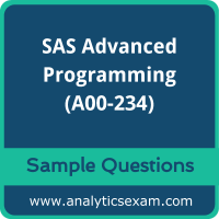 A00-234 Dumps Free, A00-234 PDF Download, SAS Advanced Programming Dumps Free, SAS Advanced Programming PDF Download, A00-234 Free Download