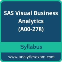 A00-278 Syllabus, A00-278 PDF Download, SAS A00-278 Dumps, SAS Visual Business Analytics Dumps PDF Download, SAS Certified Specialist - Visual Business Analytics 7.5/8.3 PDF Download
