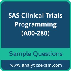 A00-280 Dumps Free, A00-280 PDF Download, SAS Clinical Trials Programming Dumps Free, SAS Clinical Trials Programming PDF Download, A00-280 Free Download