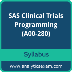 A00-280 Syllabus, A00-280 PDF Download, SAS A00-280 Dumps, SAS Clinical Trials Programming Dumps PDF Download, SAS Certified Clinical Trials Programming Using SAS 9 PDF Download
