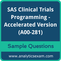 A00-281 Dumps Free, A00-281 PDF Download, SAS Clinical Trials Programming - Accelerated Version Dumps Free, SAS Clinical Trials Programming - Accelerated Version PDF Download, A00-281 Free Download
