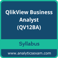 QV12BA Syllabus, QV12BA PDF Download, Qlik QV12BA Dumps, QlikView Business Analyst Dumps PDF Download, QlikView Business Analyst PDF Download