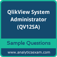 QV12SA Dumps Free, QV12SA PDF Download, QlikView System Administrator Dumps Free, QlikView System Administrator PDF Download, QV12SA Free Download