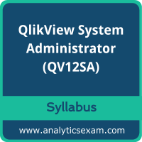 QV12SA Syllabus, QV12SA PDF Download, Qlik QV12SA Dumps, QlikView System Administrator Dumps PDF Download, QlikView System Administrator PDF Download